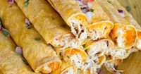 Cream Cheese Chicken Taquitos - Use your crockpot to make moist flavorful chicken filling for corn or flour tortillas. This is our new family favorite!