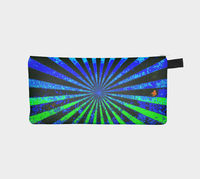 "Artwork in bite size pieces. Our pencil cases can be used for anything and are a perfect way to live with artwork every day. The case measures 9"" by 4"", has a YKK zipper and a keychain tab. Outside durable twill printed fabric, lined with artist..."