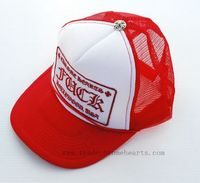 73ed19f044d9 Chrome Hearts Cap Patch Mesh Trucker On Sale COLOR  Red. Adjustable size.  FRONT