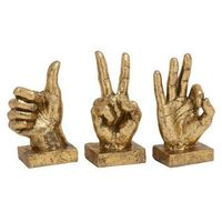 3-Pc Peeling off Textured Hand Signs