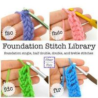 Fiber Flux: Chainless Foundation Stitch Library