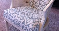 Check out this awesome chair reupholster diy project!