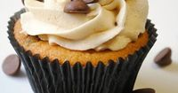 Chocolate chip cookie dough cupcakes: these are truly out of this world.