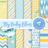 Baby Blue Digital Paper, Blue, Grey, Baby Boy, Digital Paper, Scrapbook Paper,Digital Paper,Scrapbook Paper,Blue Baby Boy Digital Paper Pack $3.00