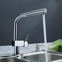 Contemporary Solid Brass Pull Out Kitchen Faucet