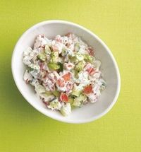 """""""In love with this salad. I had it for lunch and it's so good! Cucumber Salad In a bowl, combine 1/2 cup nonfat plain Greek yogurt, 1/2 cup diced cucumber, 1/2 cup diced tomato, 1/4 chopped avocado, 1/8 tsp sea salt, a pinch of black pepper. The ..."""