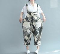 Women Suspenders trousers/ Large size Harem pants/ Leisure Rompers/ Cotton and linen maternity pants Ask a question
