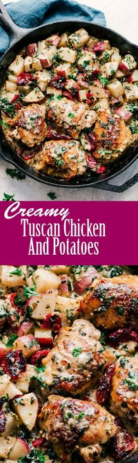 Creamy Tuscan Chicken and Potatoes. Wasn't my favorite...