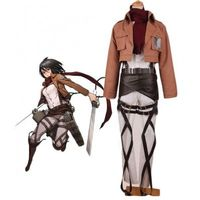 Attack on Titan Mikasa Ackerman Cosplay Costume ,cosplay wigs,cosplay boots for sale at www.eshopcos.com
