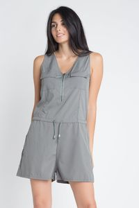 Women's Zip Front Sleeveless Romper $33.00