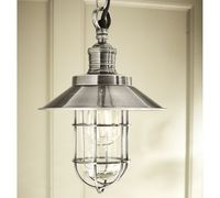 This Marine Pendant from Pottery Barn would be cute x 2 in a powder bathroom.