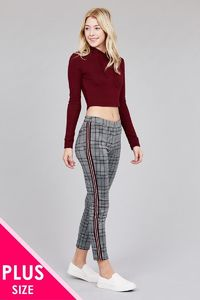 Side tape detail jacquard long pants $25.00 (20% off with CODE: BESTDEAL)
