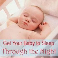 A parent's guide for establishing a sleep routine, nighttime feeding, staging the room, and dressing your baby to help him sleep through the night, with tips and troubleshooting for when babies wake up.