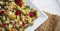 This Thanksgiving, serve up roasted brussels sprouts with quinoa and motherfuckin' cranberries