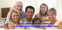 Cute family quote on image