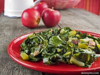 This healthy collard greens dish is a great addition to any meal. Collard green dishes are traditionally southern and soul food. Oftentimes collards are a part