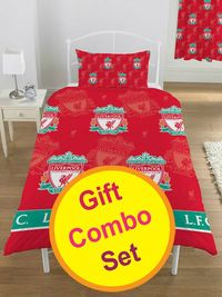 Liverpool FC Duvet Cover and Training Backpack Liverpool FC Duvet Cover and Training Backpack Gift Set Includes: Duvet Cover(LIV101). Training Kit(LIV126). 100% Official Merchandise. http://www.comparestoreprices.co.uk//liverpool-fc-du...