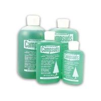 Campsuds Soap - Biodegradble, strong enough for dishes and clothes, yet gentle enough for body and hair. Just a few drops are required. Works equally well in cold and salt water.