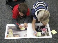 Labeling Assesses Comprehension and Strengthens Writing--After reading big books to your students, consider ways to utilize these texts to strengthen literacy skills. Place a previously read big book in a literacy station. Working in pairs, have students ...