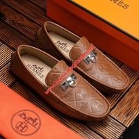HERMES IRVING LOAFER EMBOSSED CALFSKIN IN BROWN