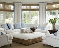 Interior Exotic Living Room Decorating With Rattan Tableand Vintage Soft White Sofas Also Soft Color by spacitylifecom