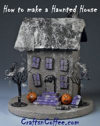 Halloween fun -- make your own Tabletop Haunted House. There are so many ways to decorate this! You could even change the size and style of the house, or, make a haunted village.