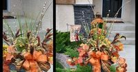 How To Make A Fall Floral Outdoor Arrangement ~ Step-by-step photo tutorial using the THRILLER, FILLER, SPILLER, EMBELLISHMENT strategy make it very simple!