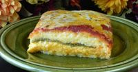 Chile Rellenos Casserole....instead of tomato paste...I split the recipe into 2 smaller dishes...on one I used the green Salsa Verde sauce and the other the Red Enchilada Sauce...OMG...AWESOME! Made 1/13