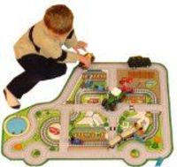 Sport and Playbase CAR ROADWAY PLAYMAT - a fun addition for the bedroom, playroom, nursery or class room! (100 X 75CM) Size: 100 x 75cm. (Barcode EAN = 5055191102878). http://www.comparestoreprices.co.uk//sport-and-playbase-car-roadway-pla...