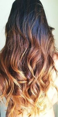 layered ombre hair