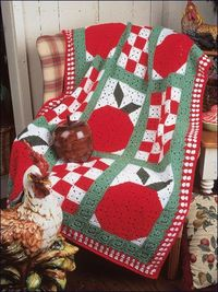 Country Apples Afghan - free crochet pattern