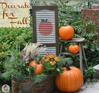 Fall Outdoor Decorating: DIY Painted Shutter / I also think a spring/summer would be super cute.