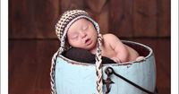 Baby Boy Beanie Crochet Baby Hat Newborn Hats by knoodleknits, $30.00