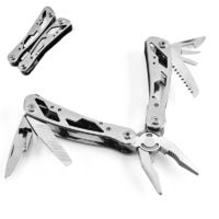 LAOTIE 10 in 1 Stainless Steel Folding Multifunctional Pliers Mini EDC Knife Tools Portable Screwdriver Bottle Opener