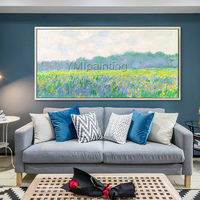 Abstract floral painting Claude Monet landscape oil paintings on canvas art framed wall art Wall Pictures hallway locus home decor $139.00