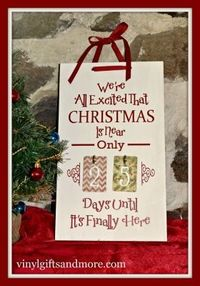 Kit - Christmas is Near Countdown Board- Beautiful countdown to Christmas board. Comes as a kit or vinyl only.