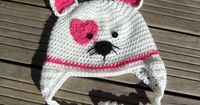 Knot Your Nana's Crochet: Valentines Kitty Hat FREE crochet pattern
