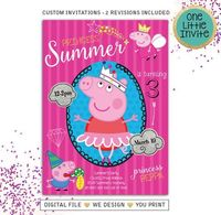 Peppa Pig Birthday invitation, peppa Pig Invitation, peppa pig invites, Peppa Pig Party Invitation, Digital File $9.00