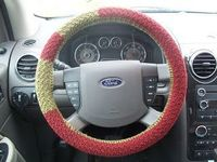 Life gets in the way of my Knitting!: Steering Wheel Cover (free pattern!)