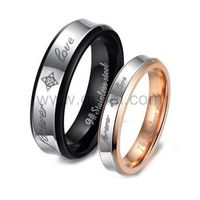 Couples Forever Love Custom Titanium Promise Rings Set https://www.gullei.com/stainless-steel-promise-couples-rings-with-custom-names.html
