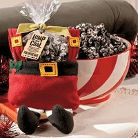 Christmas Coal Popcorn: 2 Bags Microwave Popcorn, Popped, 1 (6 oz.) Box Candy Canes, Crushed, 1 Pack Oreo Cookies, Crushed, 1 1/2 pack Almond Bark, 1 1/2 tsp. Peppermint Extract or a Few Drops of Peppermint Oil, Tag Printable