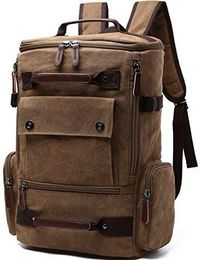 Unisex Vintage Canvas Backpack Laptop Backpack $84.92
