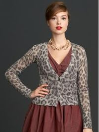 Totally loving the Banana Republic Mad Men collection! I bought myself a (different) leopard cardi inspired by this look.