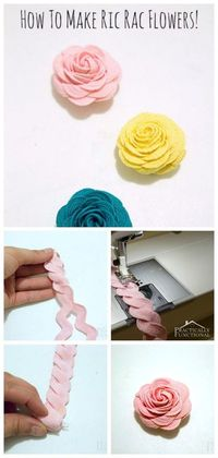 It's time to craft! Let's learn How To Make Ric Rac Flowers with this easy step by step tutorial. Use medium or jumbo ric rac for adorable roses!