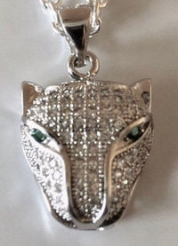 Leopard panther necklace $24.00