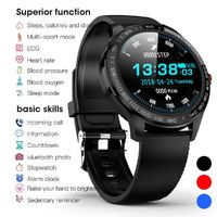 Bakeey L9 ECG Heart Rate Monitor Ultra Thin Wristband Fitness Tracker bluetooth Music Control Smart Watch