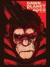 088 - Dawn of Apes Poster by Joshua M. Smith, Hydro74