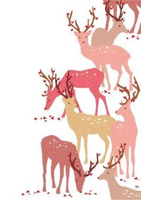 valentinstag, valentines, illustration, colour, white space, drawing, print, deer