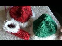 knit baby hats, loom knit and elves.