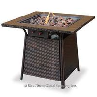 LP GAS OUTDOOR FIREBOWL WITH TILE MANTEL GAD1001B $229.99